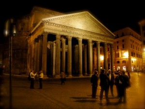 voter group meets in front of the Pantheon to discuss the dead heat