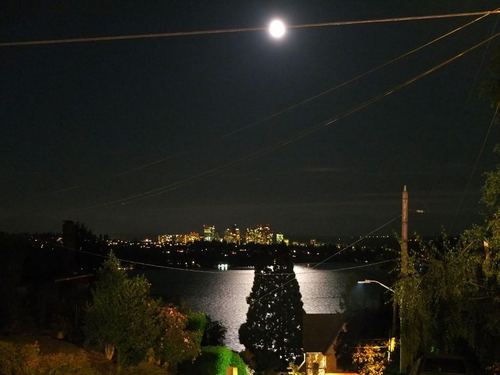 the revealing illumination of an urban moon