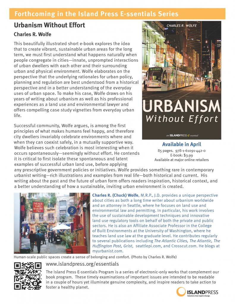 Urbanism Without Effort, coming soon…