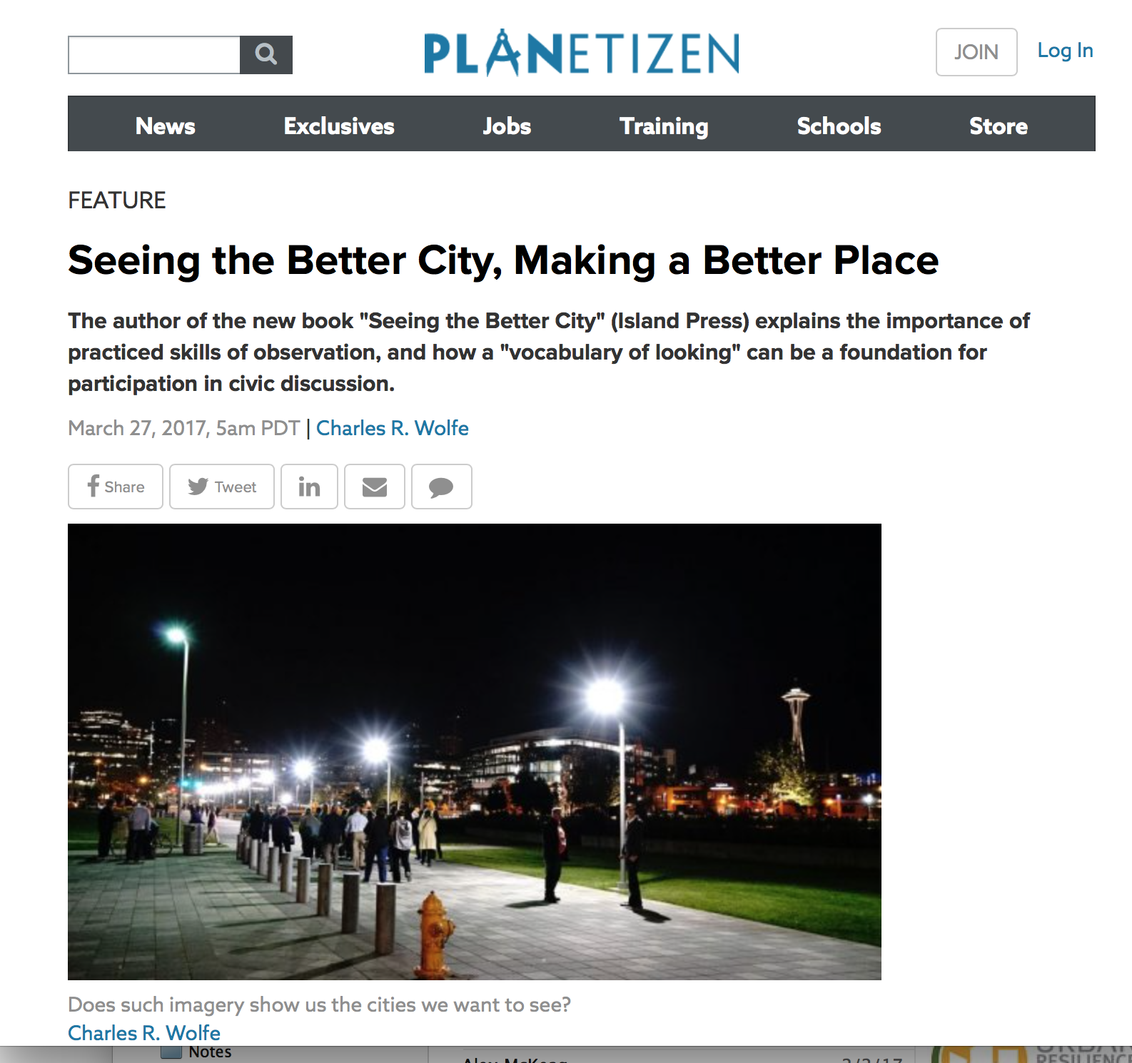 'seeing the better city' as a placemaking tool